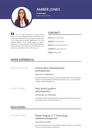 Stylish Resume Templates Template For Resumes 50 Free Microsoft Word Resume Templates For