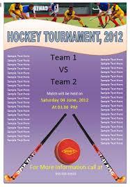 free hockey flyer template free online flyers