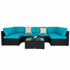 sofa set furniture kinbor 7 pcs outdoor furniture pe rattan wicker sofa sectional