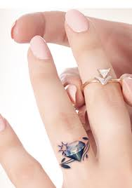 3d wedding ring tattoos wedding rings