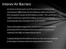 Interior Air Building Air Barriers