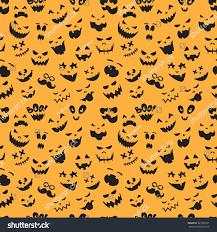 seamless pattern vintage happy halloween flat stock vector