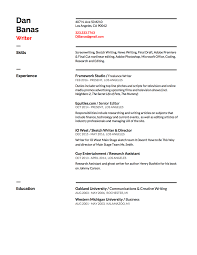 Producer Resume Examples by Television Writer Resume
