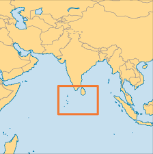 Asia On Map by Maldives Operation World