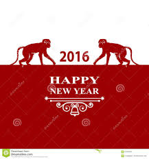 happy new year holidays 2016 decorations card silhouette monkey