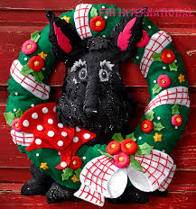 scottie dog wreath bucilla felt christmas home decor kit 86681