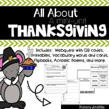 thanksgiving webquest and mini unit qr codes literacy and