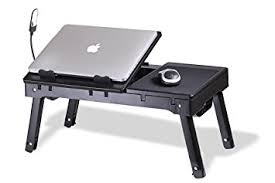 Portable Desk For Laptop Laptop Stand With Switchable Cooling Fan Led Light