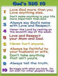 the ten commandments for kids ten commandments worksheets and