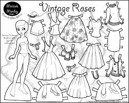 coloring pages exquisite paper doll coloring pages fancy 29