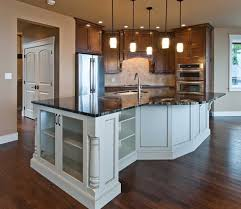 Shaped Kitchen Islands Irregular Shaped Kitchen Islands With Black Countertop Home