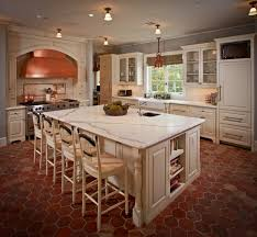 off white kitcheninets with granite countertops brown glaze paint