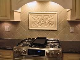 decorative kitchen backsplash crafted kitchen backsplash tiles using colonial flower tile