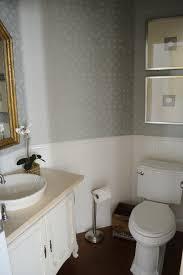 powder bathroom with soft blue grasscloth wallcovering hgtv