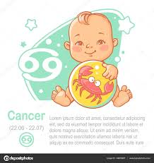 cancer colors zodiac baby zodiac kid as cancer astrological sign u2014 stock vector