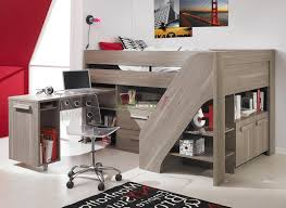 teens room loft bed with desk and stairs for teenagers craftsman
