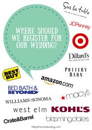 how to register for your wedding where should we register for our wedding manzanita