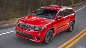 red jeep wallpaper 2018 jeep grand cherokee supercharged trackhawk front three