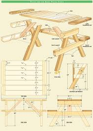 Free Plans For Wood Patio Furniture by Best 25 Picnic Tables Ideas On Pinterest Diy Picnic Table
