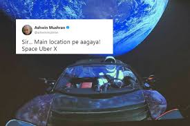 Meme Space - launches memes after elon musk sends his tesla into space