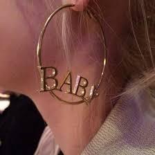 Name Hoop Earrings Jewels Hoop Earrings Earrings Baby Gold Ratchet Soft Ghetto