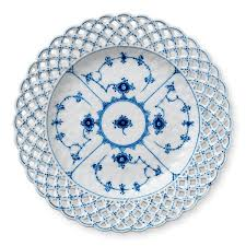 royal copenhagen blue fluted lace cake plates design