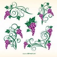 wine grape ornaments free vector graphic free found