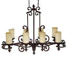 Rectangular Chandelier Bronze Capital Lighting 3268 8 Light Mediterranean Chandelier Light