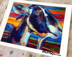 Goat Decor Goat Art Goat Decor Goat Art Print From Original Goat