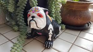 Georgia Bulldog Home Decor by Sugar Skull English Bulldog Day Of The Dead Bulldog Angel