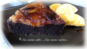 la cuisine de mes envies gâteau chocolat pommes caramélisées ma cuisine salée mes