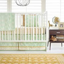 mint deer crib bedding woodland nursery bedding gold and mint