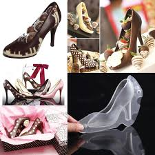 home decorating tools high heel 3d polycarbonate chocolate mold shoes cake decorating