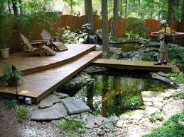 decorating ideas modern style garden koi fish pond with full size of decorating ideas charming backyard home garden design with wooden patio decking and natural