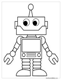 robot coloring pages print eliolera