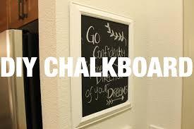 diy home decor framed chalkboard youtube