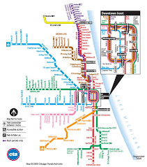 Chicago City Map by Chicago Train Map