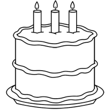 coloring exquisite drawn birthday cake coloring drawn