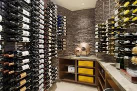 wonderful contemporary wine cellar design interior decorated with