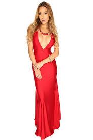 womens clothing party dresses red v neck sleeveless mermaid maxi