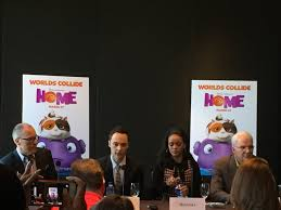 Jim Parsons Home by Dreamworks Home Screening And Press Conference Recap Rattles U0026 Heels