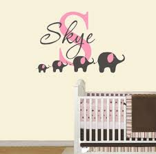 aliexpress com buy 4 elephant wall decal custom name removable aliexpress com buy 4 elephant wall decal custom name removable nursery wall decals vinyl wall stickers for baby kids room decoration mural d956 from