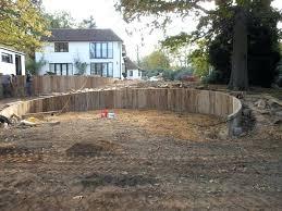 Small Garden Retaining Wall Ideas Wooden Garden Retaining Wall How To Build A Wood Retaining Wall