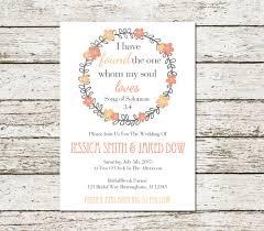 wedding quotes christian bible bible verse printable song of solomon wedding invitation etsy