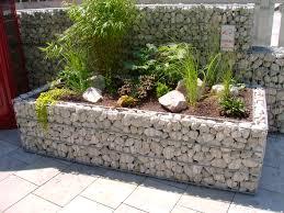 Gartengestaltung Mit Steinen Gabionen Hochbeet Steine Im Garten Shop Garten Pinterest