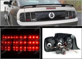 mustang led tail lights 05 09 ford mustang black housing sequential led tail lights