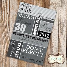 Printable Birthday Party Invitation Cards Diy Printable Invitation Surprise Birthday Party Birthday