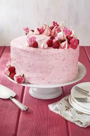 raspberry pink velvet cake with raspberry cream cheese frosting