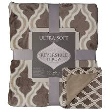 Fleece Throws For Sofas Crestwood Printed Soft Plush Cozy Luxe Fleece 50 X 60 Large