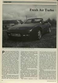 porsche 944 road test road test porsche 944 turbo cabriolet motor sport magazine